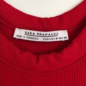 Zara Tops - Zara - Red Sleeveless Bodysuit